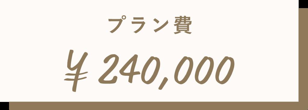 プラン費¥240,000