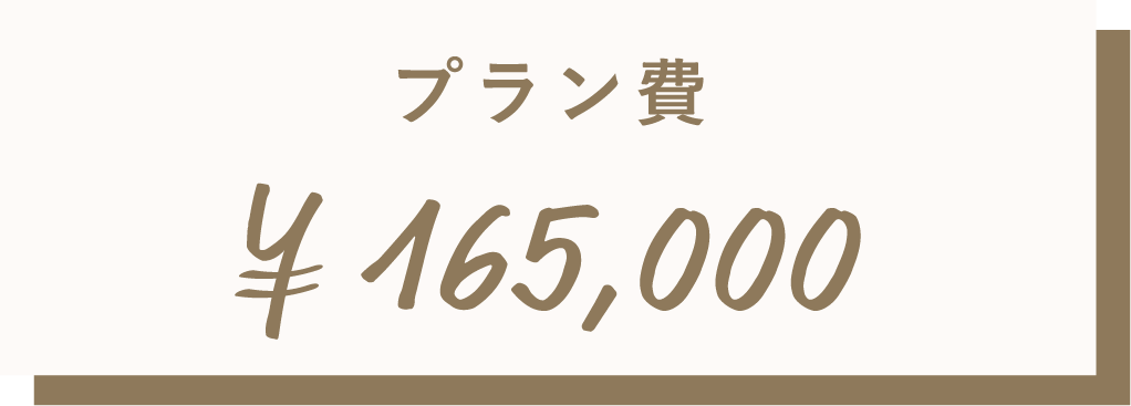 プラン費¥165,000