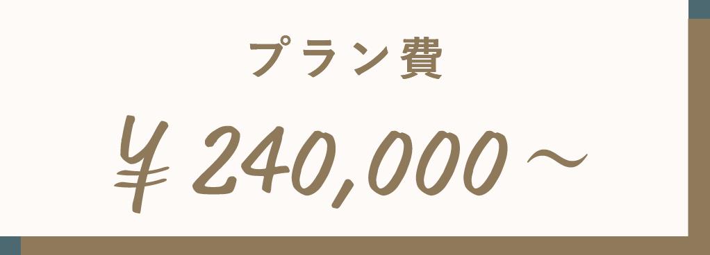 プラン費¥240,000〜